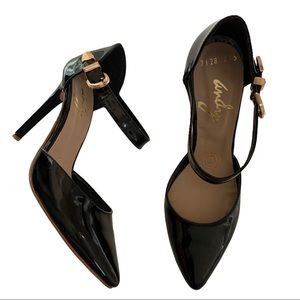 Andy Black Patent Leather Stiletto Heels